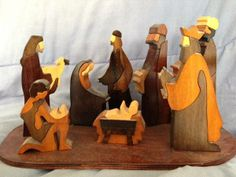 Nativity set handmade by Alice Walsh, Walsh Crafts (formerly Puckane Crafts) in Puckane, Co Tipperary, Ireland.  My Christmas present to myself!!  This was the first piece in my collection and the one that got me interested.