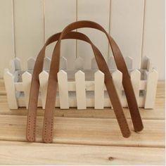 Manici per borse - 1 Coppia di cuoio dell'unità di elaborazione della - un prodotto unico di One-Stop su DaWanda