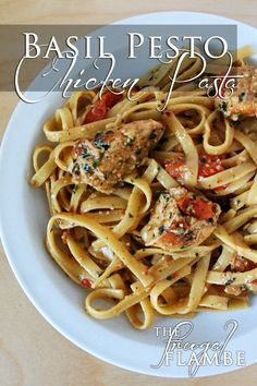 Recipe: Basil Pesto Chicken (or New York Steak) Pasta, yumm, just made this, it's the bomb.