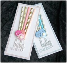 Mitt Lille Papirverksted: Paper Straws Perfect for Baby Cards