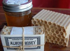 ALMOND HONEY SOAP Homemade with Real Honey and by SoapBunny, $5.50