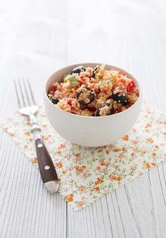 Taboulé aux olives et tomates