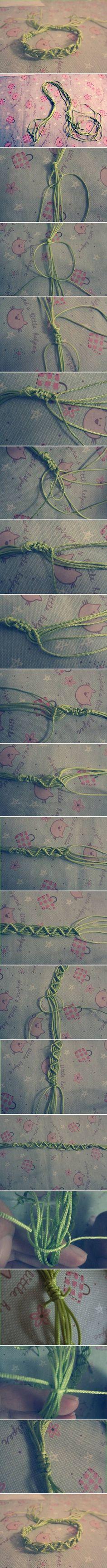DIY Nice Weave Bracelet DIY Projects / UsefulDIY.com
