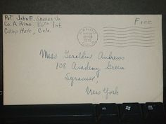 CAMP HALE, PANDO, COLORADO 1943 WWII Army Cover 86th INFANTRY