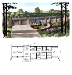 images about Subterranean Building on Pinterest    Contemporary House Plan   Total Living Area  sq  ft