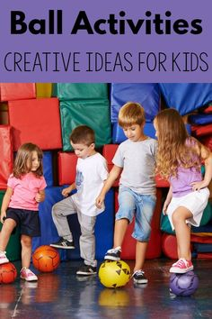 These will help my ADHD kiddos. Creative ball activities for kids. I love all of the creative ways to implement a ball for gross motor, vestibular and midline crossing. I'm saving all these ideas to use! Physical Activities For Kids, Motor Skills Activities, Movement Activities, Sensory Activities, Kindergarten Activities, Therapy Activities, Infant Activities, Music Activities, Yoga For Kids