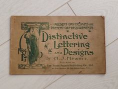 'Distinctive Lettering and Designs', A.J. Hewett   @PenguinUKBooks  via @3anneej