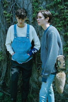 PHENOMENON_fw15_lookbook Is it tone-on-tone denim dungaree?