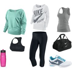 Workout clothes....yes, all of it, in all the colors....in my closet NOW please!!