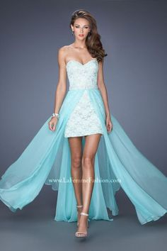 Prom Dresses 2014 High Low Sweetheart Dress Lace With Detachable Long Chiffon Skirt , You will find many long prom dresses and gowns from the top formal dress designers and all the dresses are custom made with high quality Homecoming Dresses 2014, High Low Prom Dresses, Blue Evening Dresses, Prom Dresses Blue, Cheap Dresses, Strapless Dress Formal, Short Dresses, Sexy Dresses, Party Dresses