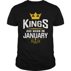 kings January good birthday funny Tshirt.