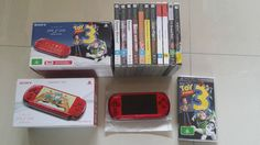 SONY PSP 3002 Red  Limited Edition  Toy Story 3 + 11 games