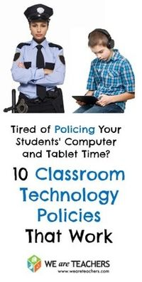 Tired of Policing devices in your classroom? Check out these classroom policies.