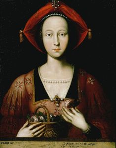 Isabella of Lorraine (1400-1453), wife of Rene d'Anjou, King of Naples.  From 1435-42, she was queen consort of Naples, and from 1442 until her death she was the titular queen consort. During her husband's absences, she acted as regent for his domains.  She was the mother of Margaret of Anjou, who was queen consort of England as the wife of Henry VI.