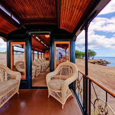 Hawaiian Railway Society's Parlor Car The observation platform offered guests a chance to feel the cool trade winds. Hawaii Life, Hawaiian, Platform, Island, Vacation, Cool Stuff, Car, Home Decor, Vacations