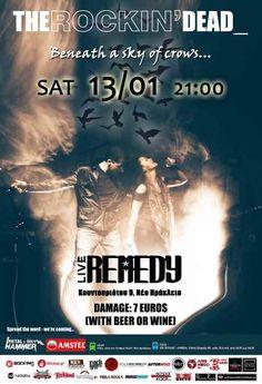 THE ROCKIN' DEAD: Σάββατο 13 Ιανουαρίου @ Remedy