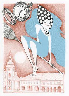 #žena#čarodějnice#krása#ilustrace#perokresba#koláž#vlasy#woman#hair#illustration#beauty#witch#ink
