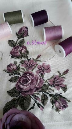 Cross stitched tablecloch with wild flowers, table decor, floral doily, hand embroidery multicolor tablecloch Just Cross Stitch, Cross Stitch Borders, Cross Stitch Flowers, Cross Stitch Designs, Cross Stitching, Cross Stitch Embroidery, Cross Stitch Patterns, Hand Embroidery Patterns, Embroidery Designs