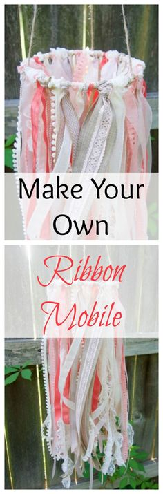 This DIY ribbon mobi