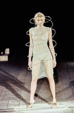 "lelaid: "" Shirley Mallmann at Alexander McQueen S/S 1999 """