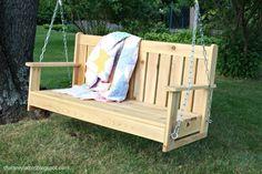 diy swinging bench