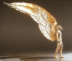 in gods_of_egypt_concept_art_jk_asc_horus_si - Art Design Egypt Concept Art, Concept Art World, Fantasy Creatures, Mythical Creatures, Gods Of Egypt Movie, Egyptian Mythology, Egypt Art, Modelos 3d, Armor Concept