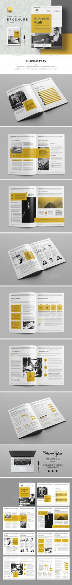 Business Plan — InDesign INDD #elegant #design • Download ➝ https://graphicriver.net/item/business-plan/19521662?ref=pxcr