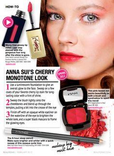 Cherry Monotone Makeup