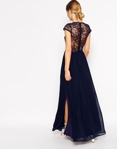 Enlarge ASOS Scalloped Lace Maxi Dress