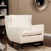 Armen Upholstered Rocking Chair - Cream (Sold by Plum Struck) $500