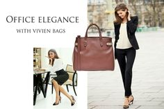 The Vivien office bag is incredibly versatile and practical; you'll look amazing next to it especially if you wear neutral colors. This splendid leather accessory will highlight your graceful femininity and beauty, turning your office clothes into an outstanding and imposing outfit.