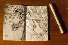 HEATHER SOULIERE ART: My Little Book of Dungeon Maps - Amazing hand drawn maps