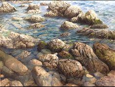 "Oil on canvas  'ones de cadaques"" sergi Gonzalez"
