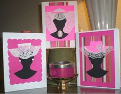 fashionable hat cards