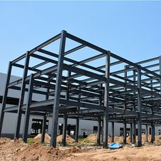 H steel beam and column ethiopia prefabricated steel structure warehouse Steel Structure Buildings, Metal Structure, Steel Frame House, Steel House, Industrial Sheds, Steel Sheds, Steel Beams, Container House Design, Drywall