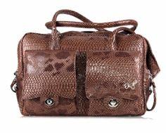 Eh Gia Mia pocket Bag 2.0 Snake Leather Brown Hondendraagtas