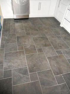 Black Slate Herringbone Tile Floor  Google Search  Yours Awesome Flooring For Bathrooms Design Ideas