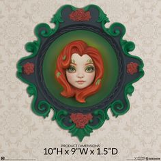 Atomic Misfit Poison Ivy Wall Hanging by Xhanthi | Sideshow Collectibles Ivy Wall, Sideshow Collectibles, Poison Ivy, Misfits, Decor, Dekoration, Decoration, Poison Oak Plant