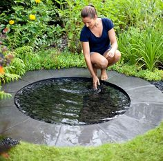 Water feature in garden Backyard Water Feature, Ponds Backyard, Backyard Landscaping, Natural Pond, Living Off The Land, Water Features In The Garden, Landscaping With Rocks, Garden Structures, Water Garden