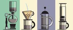 Aprende a preparar café de diferentes maneras con esta guía animada