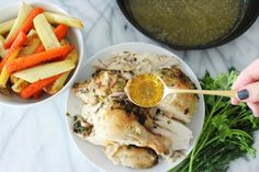 Whole Roasted Skillet Chicken - #foodbyjonister
