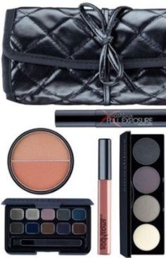 Smashbox Studio Stash Eyeshadow Palette Jet Black Mascara Gloss Eye Liner Blush  #Smashbox