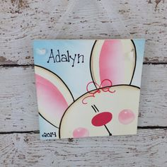 Bunny Personalized Christmas Ornament by DebbiesCutsAndCrafts