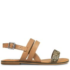 Crafted entirely from leather, these simple sandals are ultra padded and super comfortable. With a patterned front strap for contemporary contrast, the Carmela is easy summer style. 1.2cm / .47 Inch Block Heel Leather Stacked Heel Open Toe Spotte