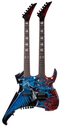 Give him the gift of a very rare Jackson Double Nightmare guitar.