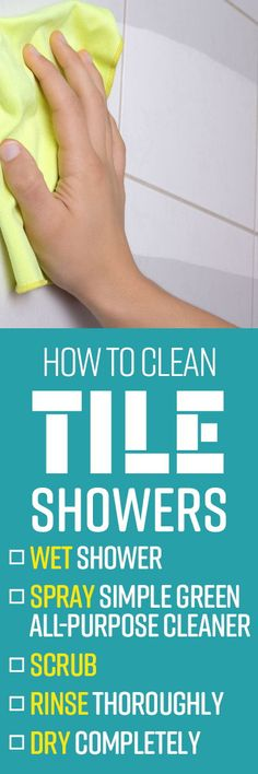 When your bathroom shower is the only place you can go for a quick de-stressing session at the end of a long day, the last thing you want to have to worry about is cleaning it. However, buildup of dirt and soap scum can tarnish even the most beautiful shower tile. Cleaning Shower Tiles, Bathroom Cleaning Hacks, House Cleaning Tips, Cleaners Homemade, Diy Cleaners, Soap Scum, All Purpose Cleaners, Organization Hacks, Organizing