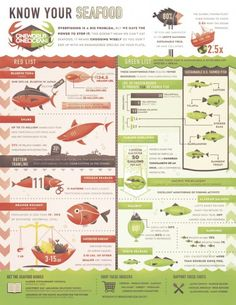 Sustainable seafood graph.  Check out the Monterrey Bay Aquarium seafood watch list as well.