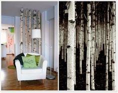 Birkenstämme Als Raumtrenner / Birch Wood In The Livingroom By Nell