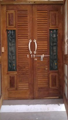 front door design collection for your home and .letest and beautiful front door design Double Door Design, Main Door Design, Front Door Design, Wooden Door Design, Wood Design, Entry Doors, Wood Doors, Flat Roof House, Tv Unit Furniture