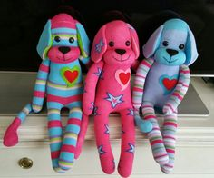 Perritos con calcetines . Dinosaur Stuffed Animal, Animals, Doggies, Tights, Plushies, Meet, Patrones, Crafts, Hipster Stuff